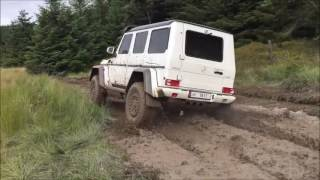 Download Awesome Mercedes G- 500 4x4 squared in action in Wales Video
