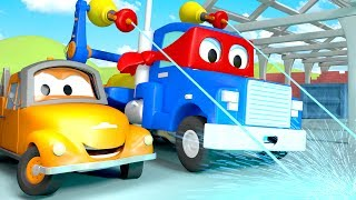 Download Carl the Super Truck and The Laser Truck in Car City | Trucks Cartoon for kids Video