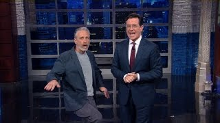 Download Jon Stewart Crashes Stephen's Monologue Video