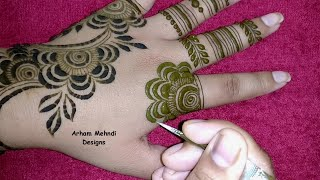Download New Beautiful and Stylish Mehndi Design|| Simple Easy Mehndi Design for Hand || Arham Mehndi Designs Video