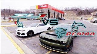 Download First DEMON Street Race vs. 2017 ZL1 Video