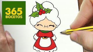 Download COMO DIBUJAR MAMA NOEL PARA NAVIDAD PASO A PASO: Dibujos kawaii navideños - How to draw a MAMA NOEL Video