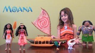 Download Moana Story: Disney Moana Toy Set, Maui's Birthday: Moana and Maui Dolls, Moana Boat Video