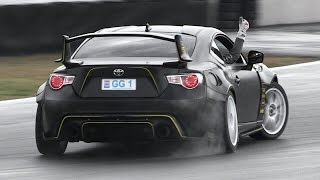 Download 350hp Toyota GT86 with GReddy Turbo Kit - Drifting & Lovely Flutter Sound Video