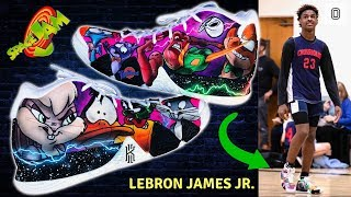 Download I make Space Jam shoes for Bronny and Bryce James! | Full Custom Video