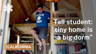 Download Tall law student, tiny house: bachelor builds dorm on wheels Video
