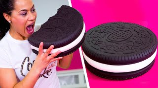 Download How To Make A GIANT OREO Out Of Chocolate CAKE & BUTTERCREAM   Yolanda Gampp   How To Cake It Video