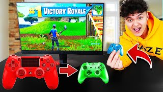 Download Every time i die i CHANGE to a SMALLER Controller in Fortnite Video