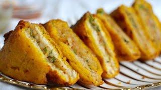 Download Stuffed Bread Pakoda Recipe | Aloo Bread Pakora | How To Make Bread Pakoda Video