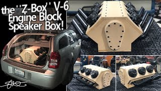 Download ″Z-Box V6″ Engine Block Subwoofer box - Hooked up, tested & pushed to the MAX! Video
