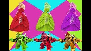 Download Learn colors Bowser Barbie | Learning of children - 아이들을위한 만화 | 아이들을 위한 애니메이션 Video