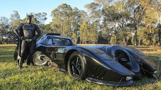 Download Real Life Batmobile: Man Spends Two Years Building Iconic 1989 Car Video
