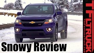 Download Chevy Colorado Z71 4x4 Duramax Snowy Mountain Pass Review: How Snow Worthy Is the Colorado? Video