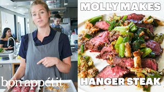 Download Molly Makes Hanger Steak with Charred Scallion Sauce | From the Test Kitchen | Bon Appétit Video