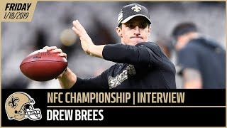 Download Drew Brees Previews NFC Championship Game vs Rams - Friday Interview | New Orleans Saints Video