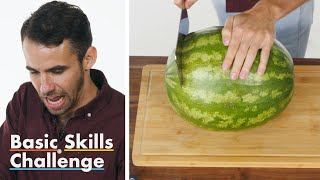 Download 50 People Try to Cut a Watermelon | Epicurious Video