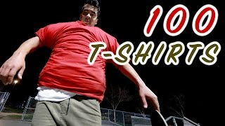 Download 100 LAYERS OF T-SHIRTS SKATEBOARDING Video