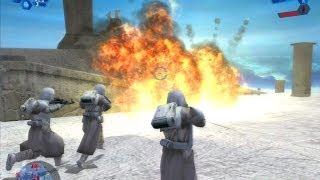 Download Star Wars Battlefront 1 gameplay Rhen Var Citadel - Galactic Civil War mission 3 Video
