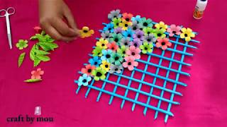 Download How to make craft paper flower wallmet l kagojer ful banano o sajano l Video