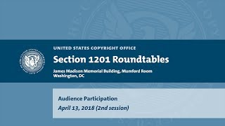 Download Seventh Triennial Section 1201 Rulemaking Hearings: Washington, DC (April 13, 2018) - Aud. [2] Video
