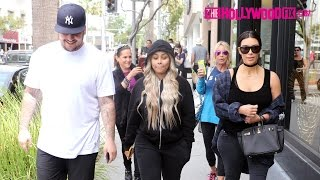 Download Kim Kardashian, Blac Chyna & Rob Kardashian Have Lunch Together In Beverly Hills 4.26.16 Video