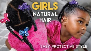 Download #GirlsCount | QUICK Protective Hairstyle For Girls - Natural Hair Video