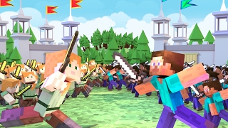 Download Minecraft | 100 BOYS VS 100 GIRLS! (Massive Mob Battles) Video