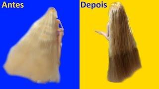 Download Como alisar cabelo de Boneca Rapunzel - super transformação! Video