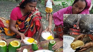 Download How To Cook Egg Omelette In Papaya? Amazing Recipe | Wild Survival Style | Rare Village Foods Video