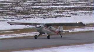 Download Aviat Husky A1 Very Slow Landing In Heavy Wind Conditions CSU3 Video