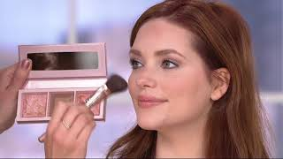 Download bareMinerals Crystalline Glow Bronzer & Highlighter Palette w Brush on QVC Video