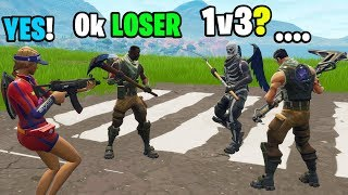 Download I challenged 3 noobs to a 1v3 in Playground! (INSANE BUILD BATTLE!) Video