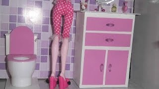 Download How to make a bathroom (Sink cabinet) for doll Monster High, Barbie, etc Video