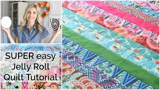 Download Easy Beginner Quilting Tutorial with a Jelly Roll Video