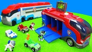 Download Paw Patrol Spielzeug Kinderfilm: Spielzeugautos, Feuerwehrautos, Müllwagen, Bagger & Polizeiautos Video