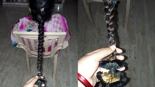 Download Traditional hairstyle making with savaram Video