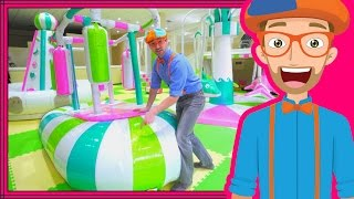 Download Learning Colors with Blippi at an Indoor Playground Play Place Video