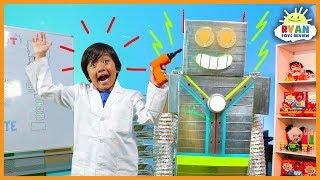 Download Let's Build A Robot Kids Song | Body Parts Exercise and Dance for Children | Ryan ToysReview Video