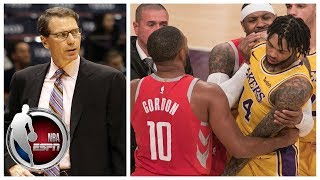 Download Breaking down Rockets vs Lakers brawl suspensions | SportsCenter Video