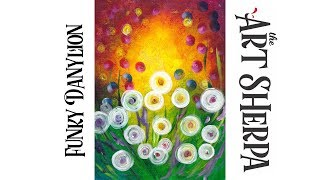 Download How to paint with Acrylic on Canvas Funky Abstract Dandelions Video