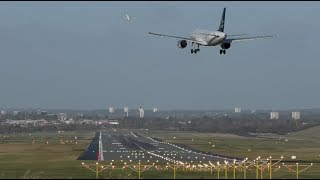 Download Impressive Airport runway efficiency Boeing 737 takeoff while Airbus a320 is landing behind Video
