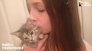 Download 12-Year-Old Girl Fosters Kittens Nonstop | The Dodo Faith = Restored Video