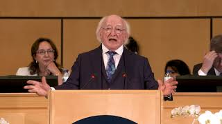 Download There can be no peace that is not universal, says the President of Ireland Video