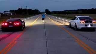 Download 700hp NA C6 Corvette Z06 vs 700hp Ford Mustang GT500 Video