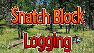 Download How to use a snatch block for pulling big logs Video