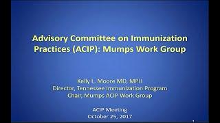 Download October 2017 ACIP Meeting - Mumps; Vaccine Safety; Human Papillomavirus (HPV) Vaccines Update Video
