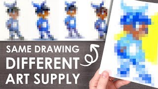 Download SAME DRAWING, DIFFERENT MEDIUM - How Art Supplies Change Your Style Video