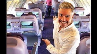 Download EXECUTIVA POR US$ 200!! Thai Airways B747-400 Upper deck em Classe Executiva Video