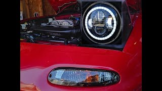 Download Jeep Headlights On A 1995 NA Miata? Full LED Headlight and Smoked Turn Signal Install Video