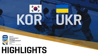 Download Korea - Ukraine | Highlights | 2017 IIHF Ice Hockey World Championship Division I Group A Video